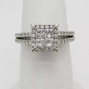 Jewelry - 1 carat 14k white gold quad diamond ring